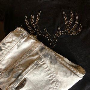ROCK & REPUBLIC  White/ Grey Summer Jeans